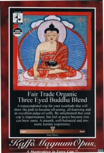 Three Eyed Buddha Blend Poster, Air Pot Label or Shelf Talker