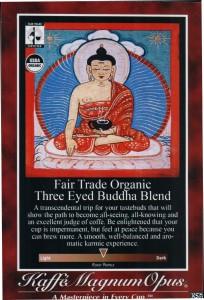 Three Eyed Buddha Blend Poster, Air Pot Label or Shelf Talker